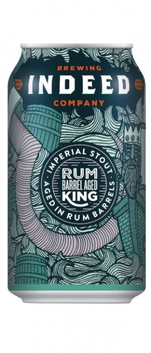Rum King Imperial Stout by Indeed Brewing Company in Minnesota, United States