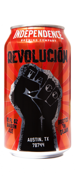 Taco Revolución by Independence Brewing Company in Texas, United States