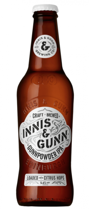 Gunnpowder IPA by Innis & Gunn in Edinburgh - Scotland, United Kingdom