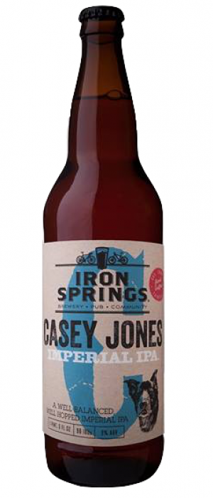 Casey Jones Imperial I.P.A. by Iron Springs Brewpub in California, United States