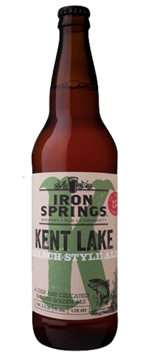 Kent Lake Kolsch by Iron Springs Brewpub in California, United States