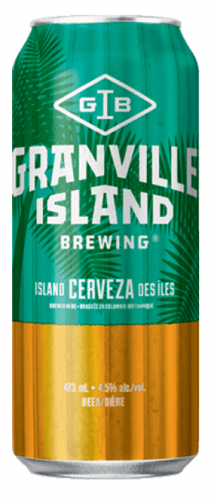 Island Cerveza by Granville Island Brewing in British Columbia, Canada