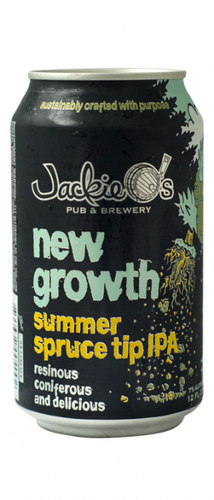New Growth Summer Spruce Tip IPA by Jackie O's Pub & Brewery in Ohio, United States