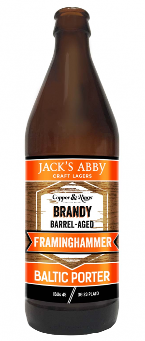 Brandy Barrel-Aged Framinghammer by Jack's Abby Craft Lagers in Massachusetts, United States
