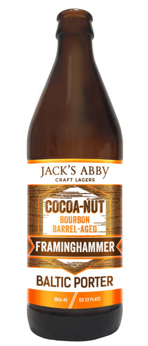 Cocoa-Nut Barrel-Aged Framinghammer by Jack's Abby Craft Lagers in Massachusetts, United States