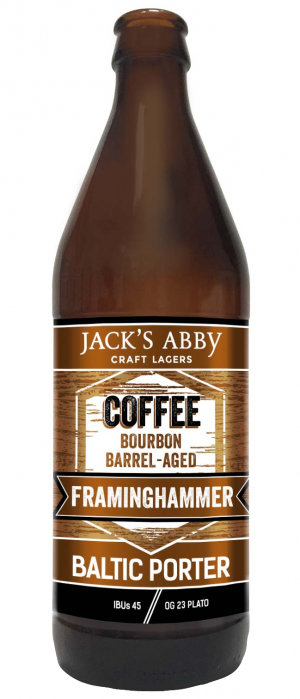 Coffee Barrel-Aged Framinghammer by Jack's Abby Craft Lagers in Massachusetts, United States