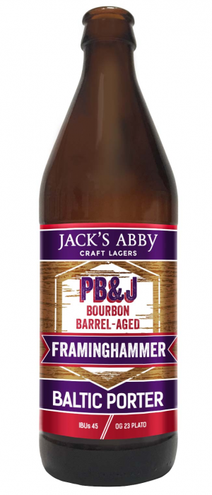 PB&J Barrel-Aged Framinghammer by Jack's Abby Craft Lagers in Massachusetts, United States