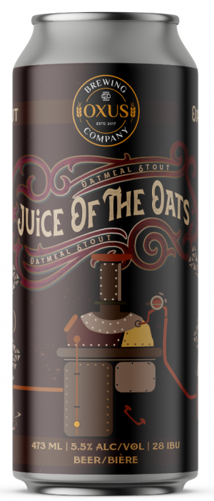 Juice of the Oats Oatmeal Stout by Oxus Brewing Company in Manitoba, Canada