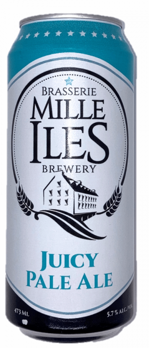 Juicy Pale Ale by Brasserie Mille-Îles in Québec, Canada