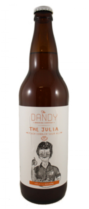 The Julia: Peach Cobbler Sour by The Dandy Brewing Company in Alberta, Canada