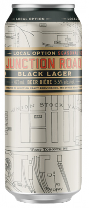 Black Lager by Junction Craft Brewing in Ontario, Canada