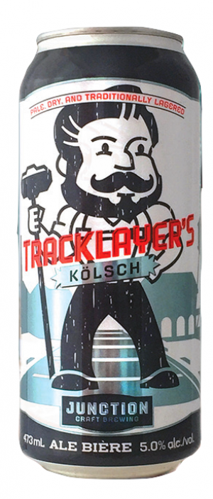 Tracklayer's Kolsch by Junction Craft Brewing in Ontario, Canada