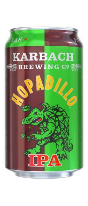 Hopadillo IPA by Karbach Brewing Company in Texas, United States