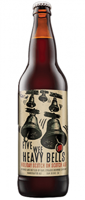 2014 Five Wee Heavy Bells by Karl Strauss Brewing Company in California, United States