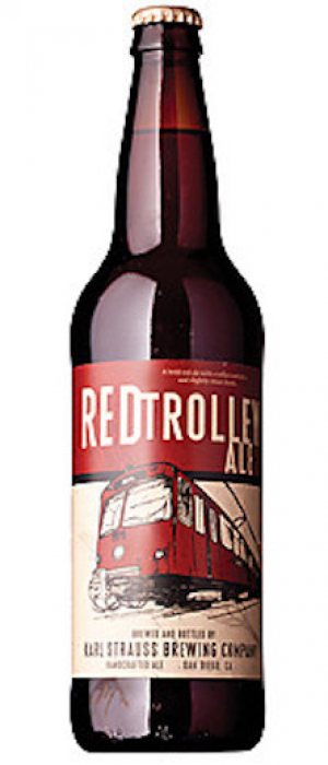 Red Trolley Ale by Karl Strauss Brewing Company in California, United States