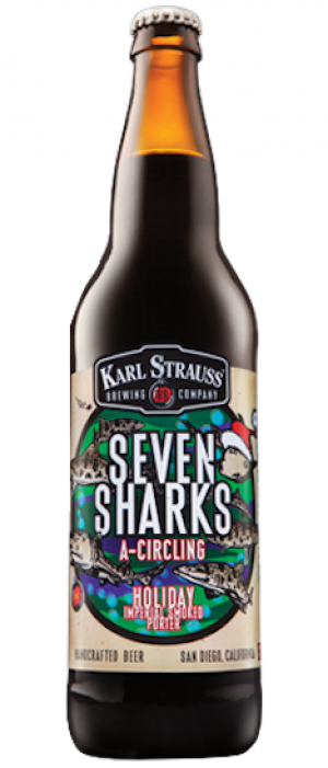 Seven Sharks A-Circling by Karl Strauss Brewing Company in California, United States