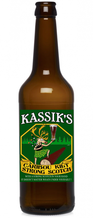 Caribou Kilt Wee Heavy Scotch by Kassik's Brewery in Alaska, United States