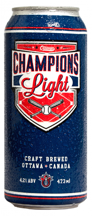 Champions Light by Kichesippi Beer Company in Ontario, Canada