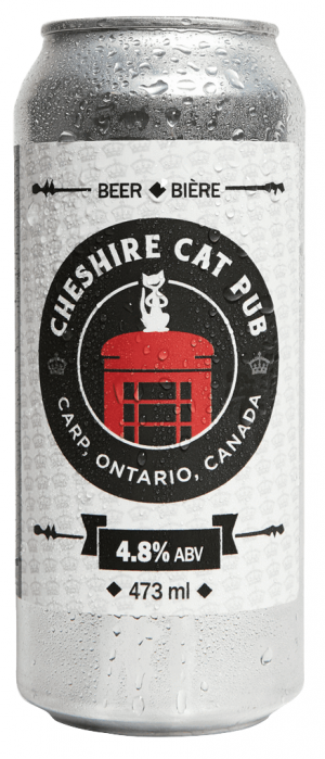 Cheshire Cat Pilsner by Kichesippi Beer Company in Ontario, Canada