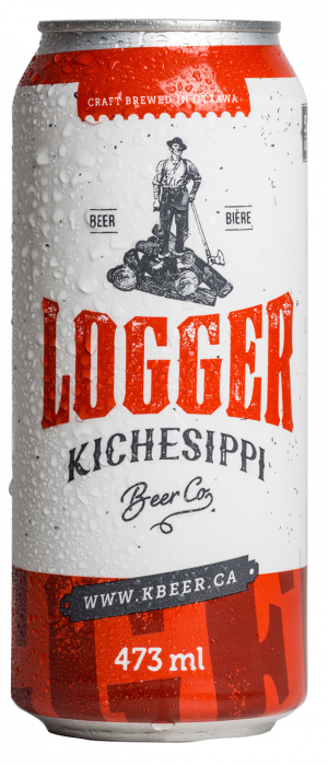 Logger by Kichesippi Beer Company in Ontario, Canada