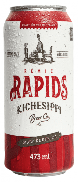 Remic Rapids IPA by Kichesippi Beer Company in Ontario, Canada
