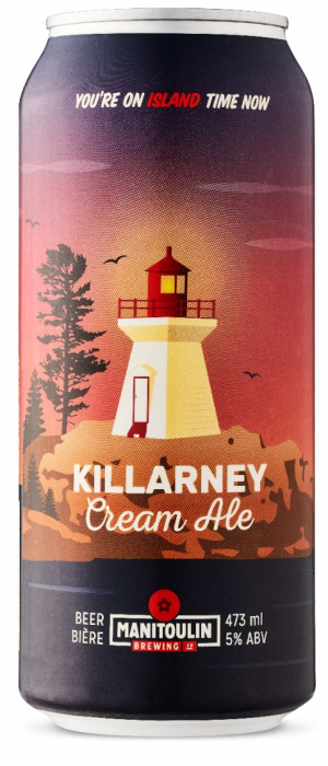 Killarney Cream Ale by Manitoulin Brewing Company in Ontario, Canada