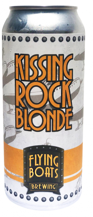 Kissing Rock Blonde Ale by Flying Boats Brewing in New Brunswick, Canada