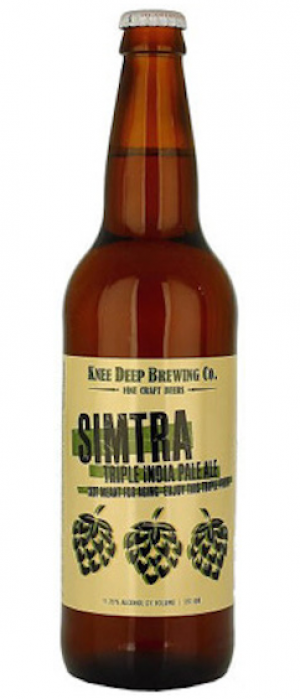 Simtra Triple IPA by Knee Deep Brewing Company in California, United States