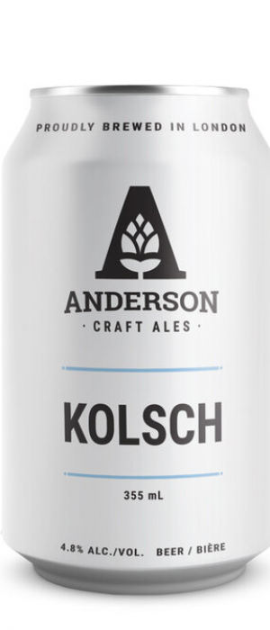 Kolsch by Anderson Craft Ales in Ontario, Canada