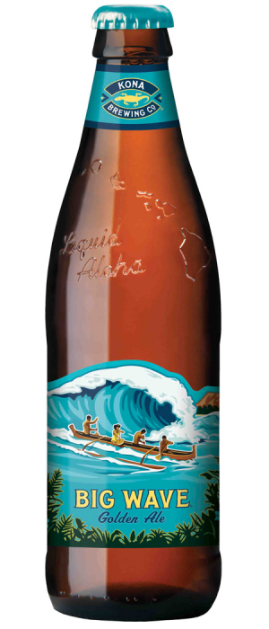 Big Wave Golden Ale by Kona Brewing Company in Hawaii, United States