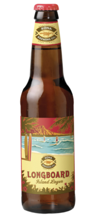 Longboard Island Lager by Kona Brewing Company in Hawaii, United States