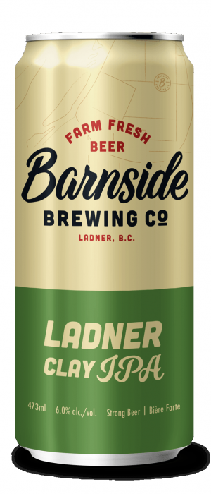 Ladner Clay IPA by Barnside Brewing Co. in British Columbia, Canada