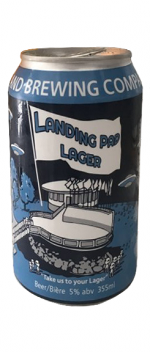 Landing Pad Lager by Lakeland Brewing Company in Alberta, Canada