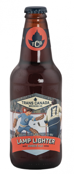 Lamp Lighter Amber Ale by Trans Canada Brewing Co. in Manitoba, Canada