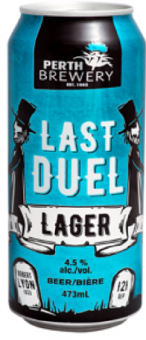 Last Duel Lager by Perth Brewery in Ontario, Canada