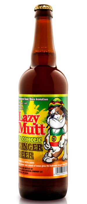 Lazy Mutt Alcoholic Ginger Beer by Minhas Micro Brewery in Alberta, Canada
