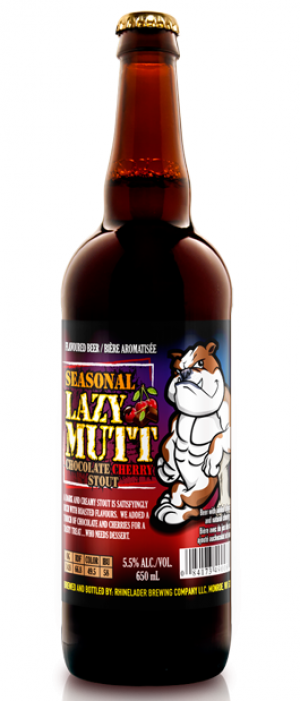 Lazy Mutt Chocolate Cherry Stout by Minhas Micro Brewery in Alberta, Canada