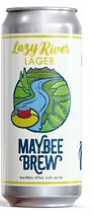 Lazy River Lager by Maybee Brew Co. in New Brunswick, Canada