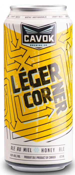 Léger Corner Honey Ale by Cavok Brewing Co. in New Brunswick, Canada