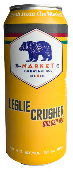 Leslie Crusher Golden Ale by Market Brewing Company in Ontario, Canada