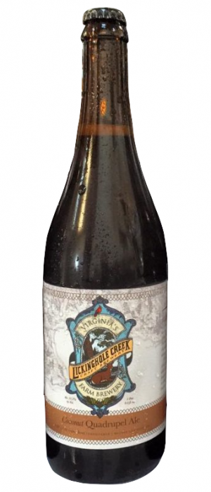 Coconut Quad by Lickinghole Creek Craft Brewery in Virginia, United States