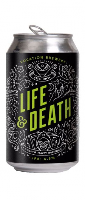 Life & Death IPA by Vocation Brewery in West Yorkshire - England, United Kingdom