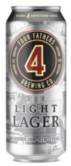 LIght Lager by Four Fathers Brewing Co.  in Ontario, Canada