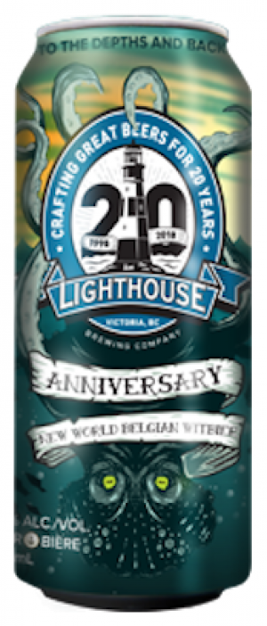 20th Anniversary New World Belgian Wit by Lighthouse Brewing Company in British Columbia, Canada