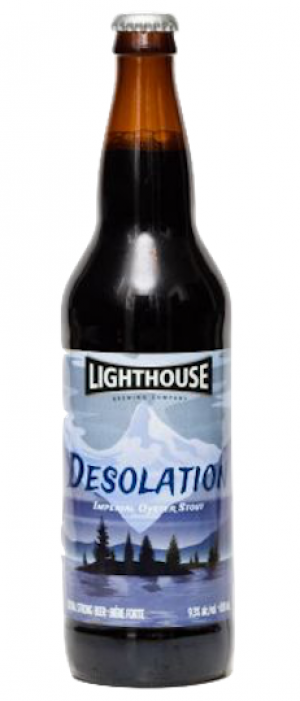 Desolation Oyster Stout by Lighthouse Brewing Company in British Columbia, Canada