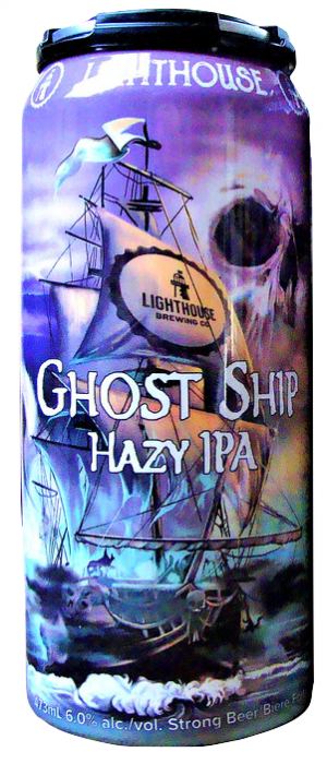 Ghost Ship Hazy IPA by Lighthouse Brewing Company in British Columbia, Canada