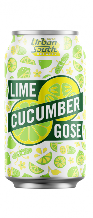 Lime Cucumber Gose by Urban South Brewery in Louisiana, United States