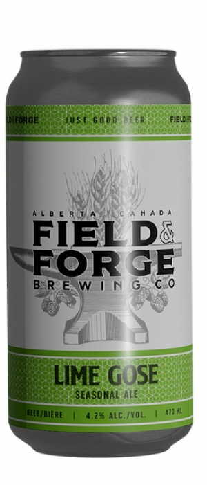 Lime Gose by Field & Forge Brewing Co. in Alberta, Canada