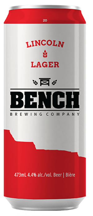 Lincoln Lager by Bench Brewing Company in Ontario, Canada