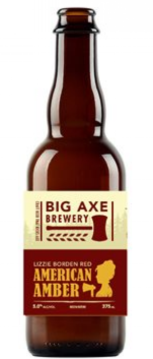 Lizzie Borden American Amber by Big Axe Brewery in New Brunswick, Canada